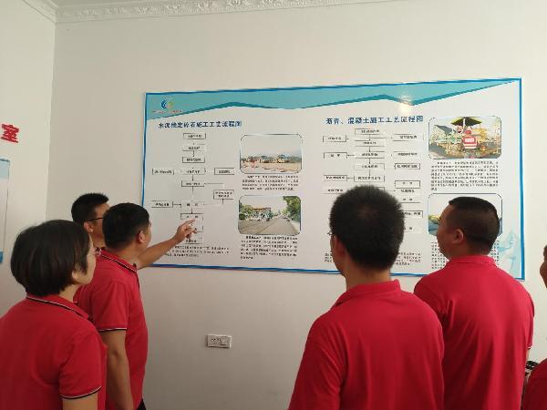 杨方华总工程师带领团队研究施工工艺