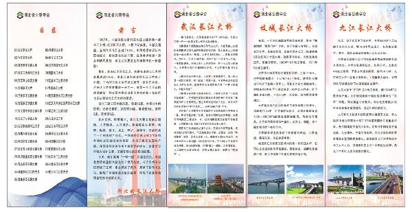 3现场展出的湖北省境内35座长江大桥(2)