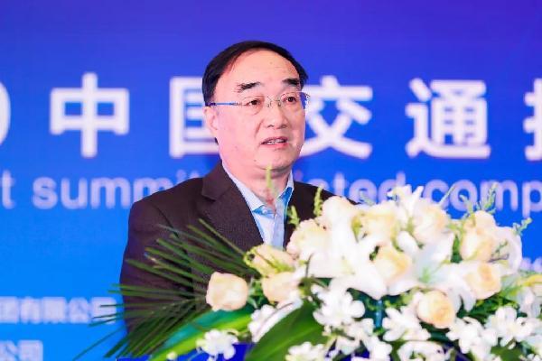 全国人大常委会委员、中国公路学会理事长翁孟勇致辞